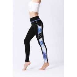 LEGGINGS WITH SIDE BLUE PRINT